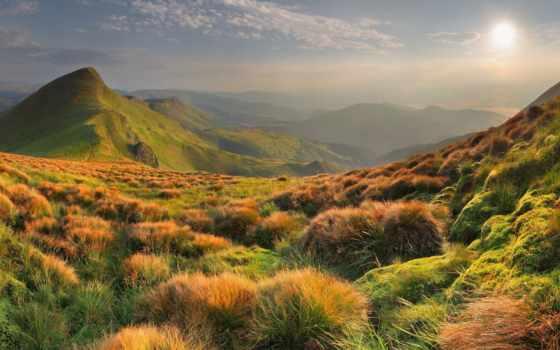фотообои, осень, article, товар, трава, горах,