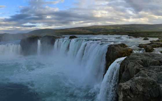 iceland, godafoss, оц, водопад, desktop, goðafoss,