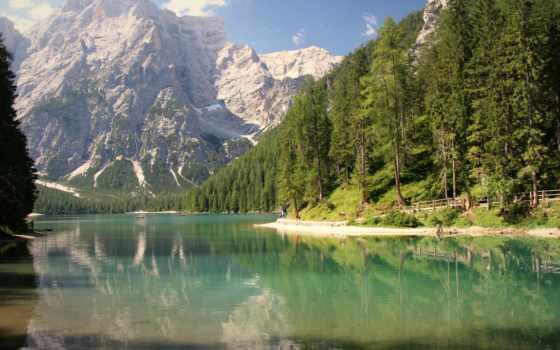 pragser, wildsee, prags, braies, ди, lago, italy, alcatel,