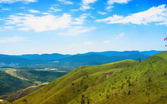 brazil, saib, paulo, sao, небо, mountains, трава,