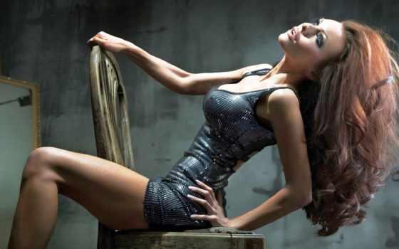 девушка, платье, спины, блестящем, стуле, мари, власова,