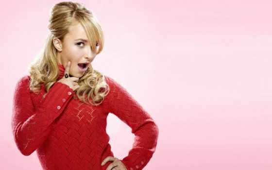 hayden, panettiere, sweater, red, хайден, free, блондинки, resolution, high,