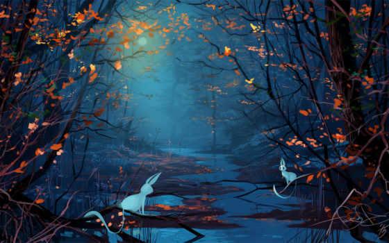 лес, art, fantasy, картинка