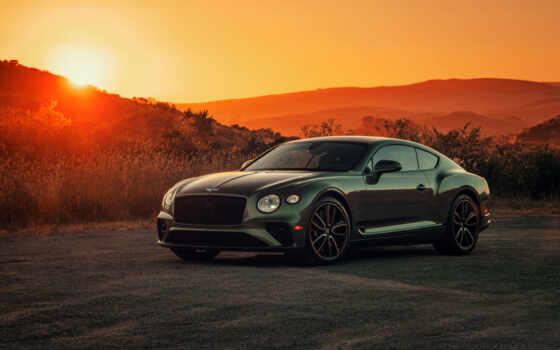 bentley, зелёный, car, continental, free, bentti