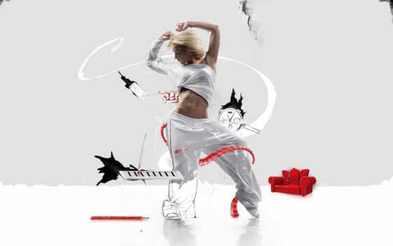 девушка, танец