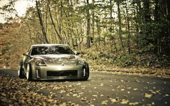 осень, листья, музыка