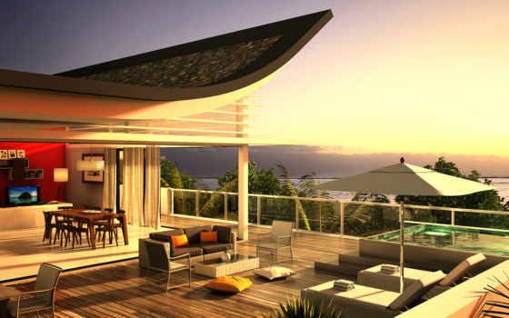 house, море, design