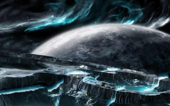 планеты, cosmos, гладь, картинка,