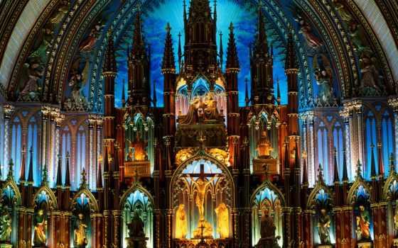 dame, notre, богоматери, парижской, cathedral, париж, нотр, dam, basilica, бьет,