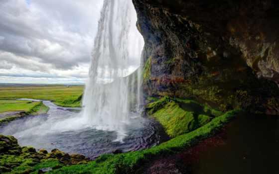 seljalandsfoss, водопад, iceland, водопад,