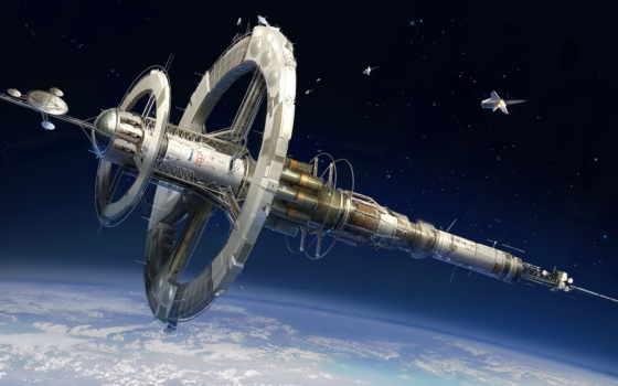 космос, art, корабль