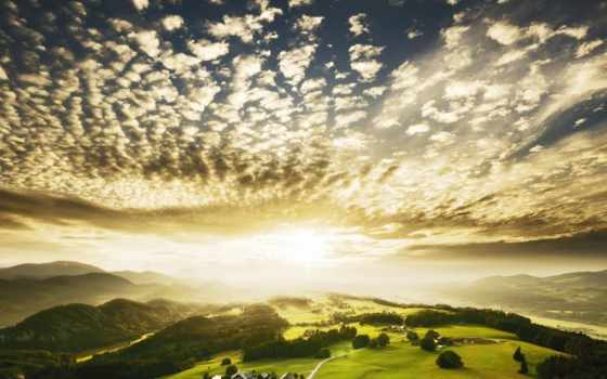 небо, amazing, peaceful, природа, sunlight, дерево, sun, тропинка, blue,
