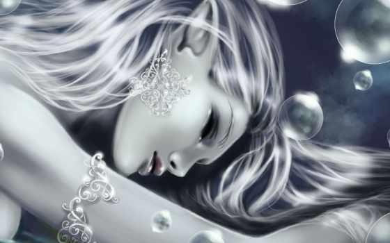 fantasy, девушка, elfy, devushki, волосами, волосы, серебристыми, лицо, art, blonde,