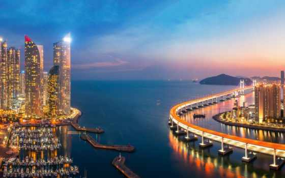 busan, korea, south, город, korean, фото, мост