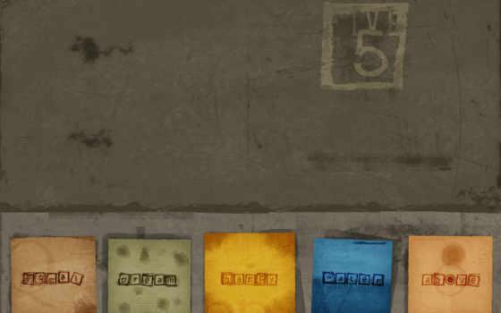 текстура, бумажки, смотрите, картинка, five,