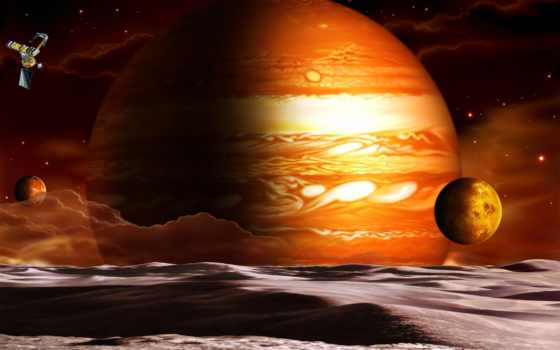планета, спутники Фон № 24334 разрешение 1680x1050