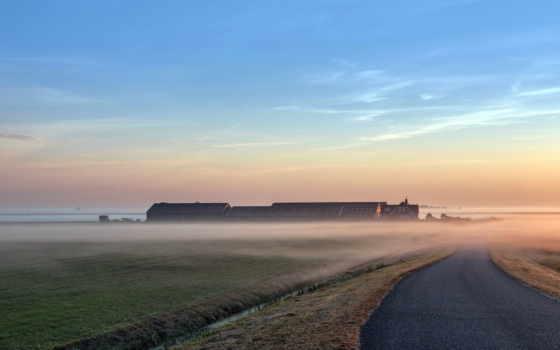дорога, туман Фон № 25024 разрешение 1920x1200