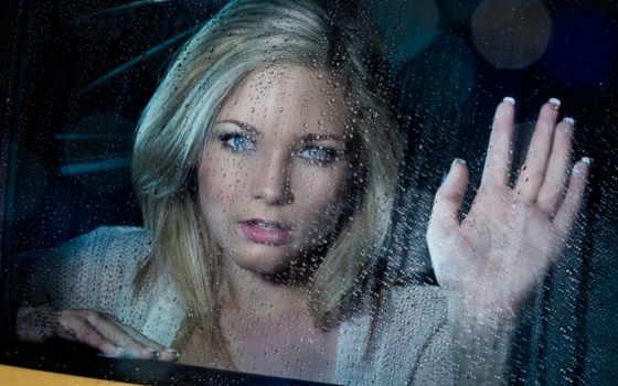 glass, девушка, devushki, мокрое, дождь, капли, сквозь,