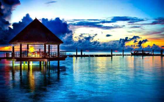maldives, tropical, компьютер, планшетный, abyss,