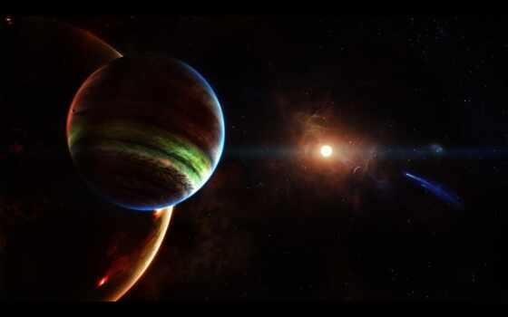 космос, star, planet, comet, астероид, land, окно, font