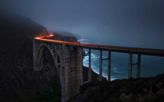 мост, свет