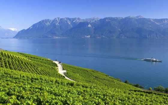 альпы, швейцария, горы, summer, озеро,