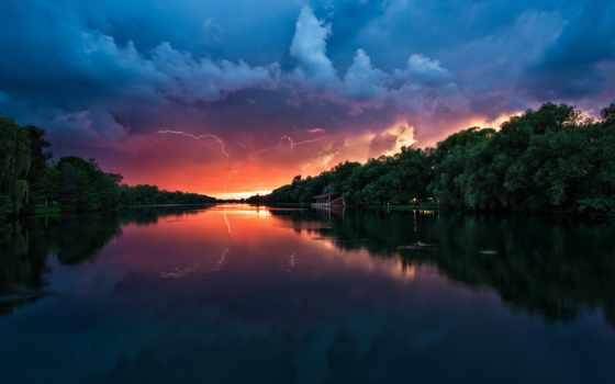 park, река, стандартные, mac, заката, fone, молнии, лес, falls, лесу, которых,