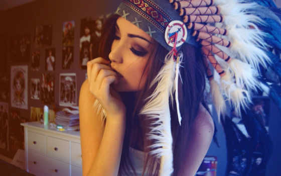 indian, девушка, headdress, платье, pinterest, portrait, голова, туземец, об, американский, art,
