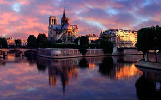 париж, dame, notre, франция, château, cathedral, нотр,
