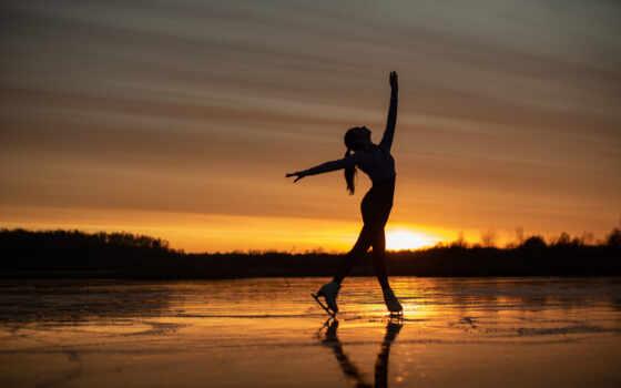 озеро, skate, лед, free, коллекция, june, kalabushkin, рассвет, вечер, природа