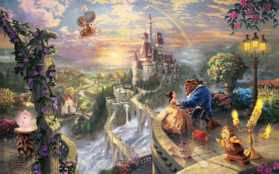 disney, thomas, kinkade