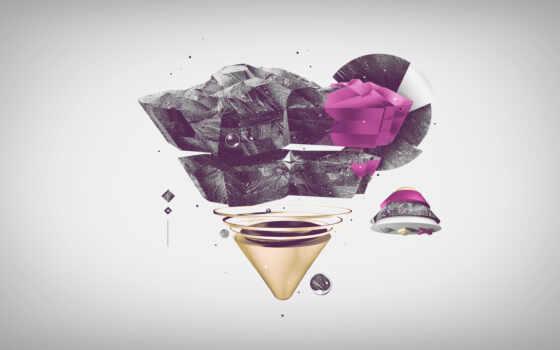 треугольник, яркий, взгляд