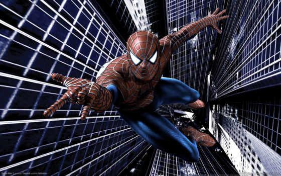 февр, паук, мужчина, спайдермен, игры,