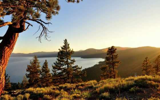 природа, озеро, картинка