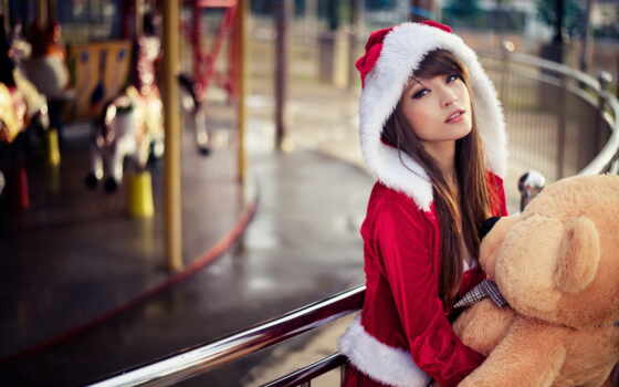 санта, девушка, girls, christmas, hot, teddy, купальники,