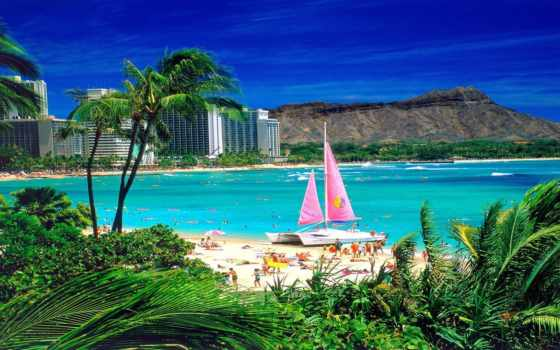 туры, пляж, best, hawaii, сша, beaches, travel, отдых, waikiki, самые,