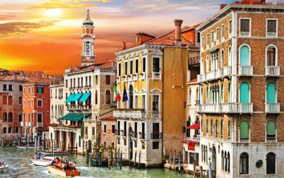 venezia, города, italian, широкоформатные, canal, заставки, italy, venice, канал, grande, красивые,