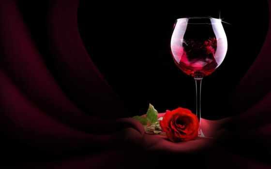 бокалы, вино, роза, красная, цветы, cvety, розы, glass, еда, диета, питания,