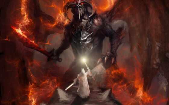 демон, fantastic, металл, рогатый, d效果图, чи, incubus, henry