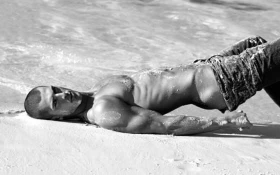 парень, пляже, мужчины