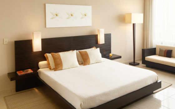 спальни, дизайн, интерьер, комнаты, спальной,