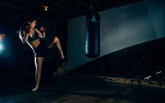 спорт, груша, тренировка