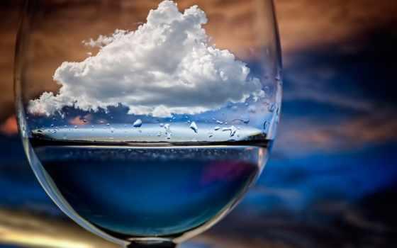 glass, облако, макро, chechi, peinado, картинка,