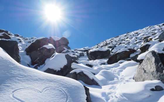 sonne, schnee, pixabay, bilder, kostenlose, herz, herzchen, steine, die, mit,