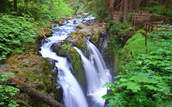 сол, duc, олимпийский, park, falls, national, водопад, водопады, washington, природа,