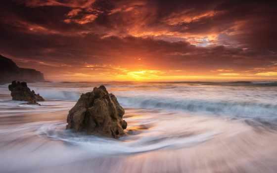 закат, море, картинка, desktop, природа, небо,