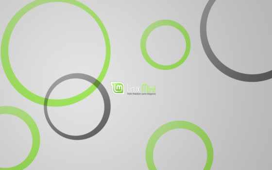 linux, mint, logo, green, grey