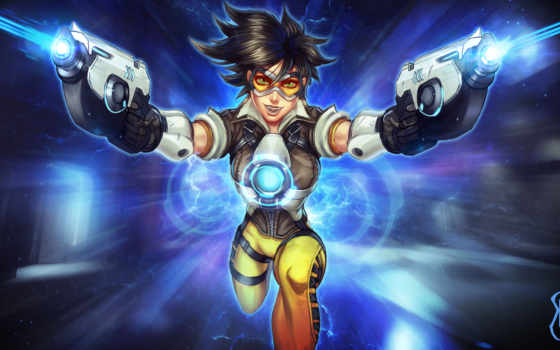 tracer, overwatch, art, fan, desktop, mobile, resolutions,