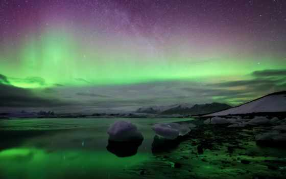 северное, сияние, iceland, kuls, ночь, млечный, rl,