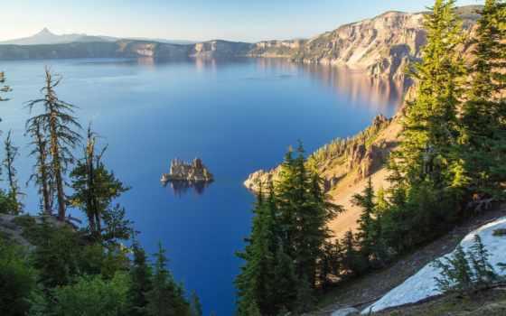 сша, oregon, state, crater, озеро, озера, пейзажи -, леса,